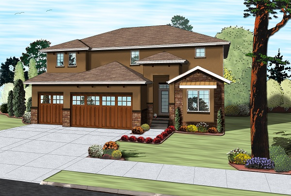 Craftsman Tuscan Home with 4 Bedrooms 2867 Sq Ft