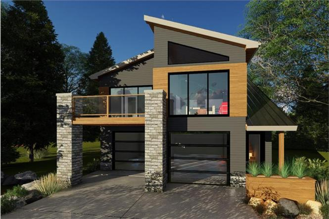 Garage W Apartments With 2 Car 1 Bedrm 758 Sq Ft Plan 100 1355