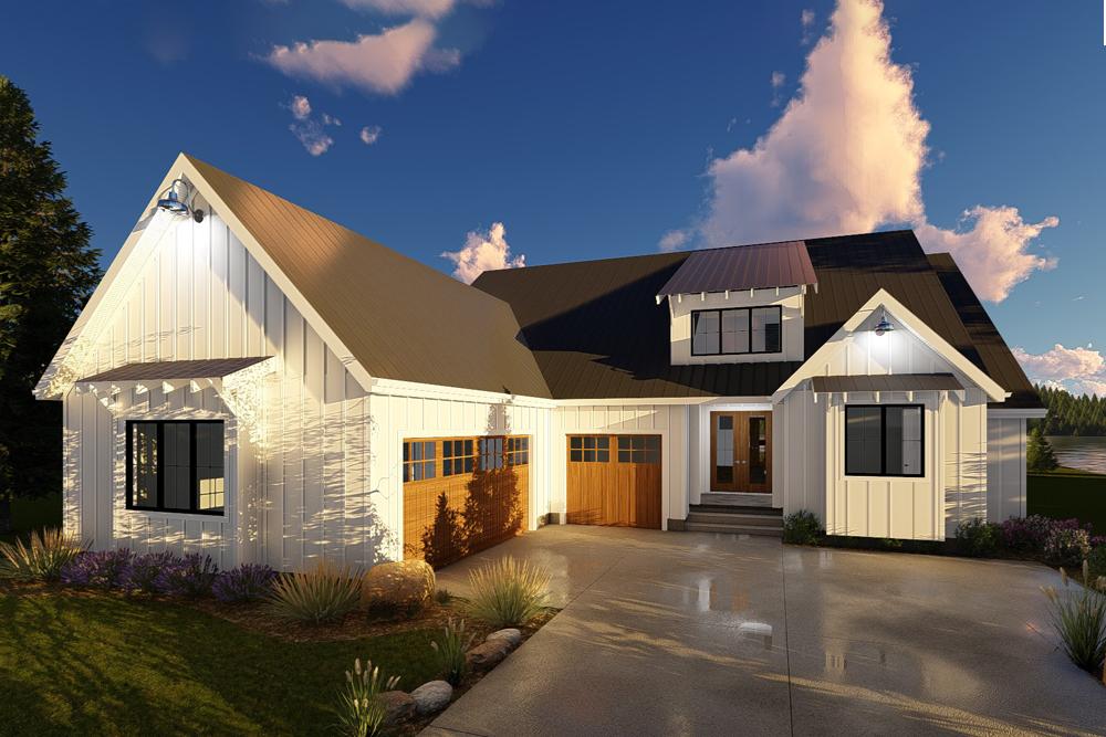 Farmhouse Home Plan 2 Bedrms 2 Baths 1900 Sq Ft