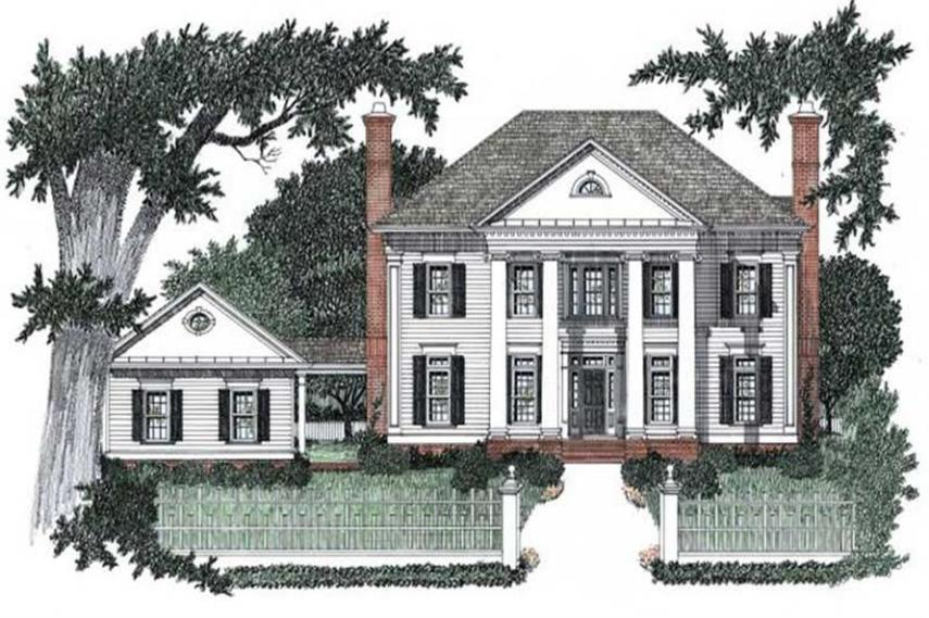 Colonial Floor Plan   4 Bedrms  4 5 Baths   3435 Sq Ft    102 1050  102 1050      4 Bedroom  3435 Sq Ft Colonial Home Plan   102 1050   Main