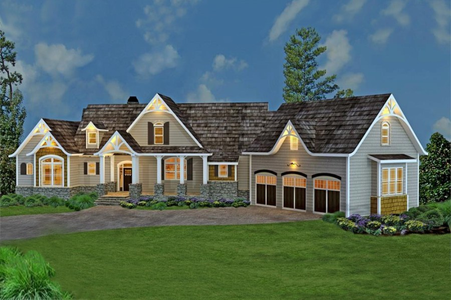 Craftsman Style Home Floor Plan   3 Bedrooms   House Plan  106 1274  106 1274      Country style House Plan  106 1274