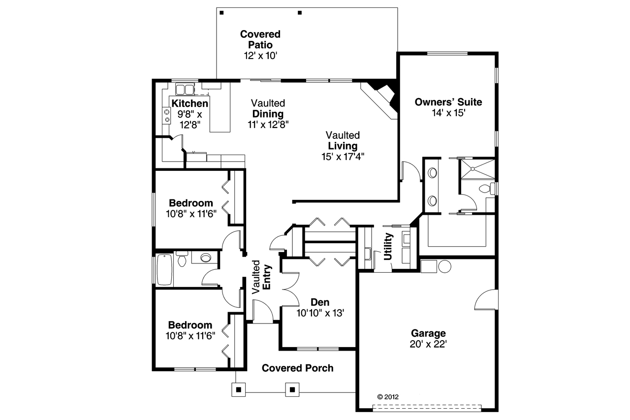 Ranch House Plan 108 3 Bedrm Sq Ft Home