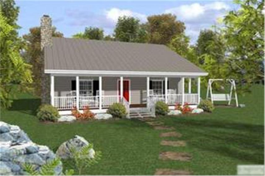 Small Ranch House Plan   Two Bedrooms  One Bathroom   Plan  109 1010  109 1010      2 Bedroom  953 Sq Ft Country Home Plan   109 1010   Main