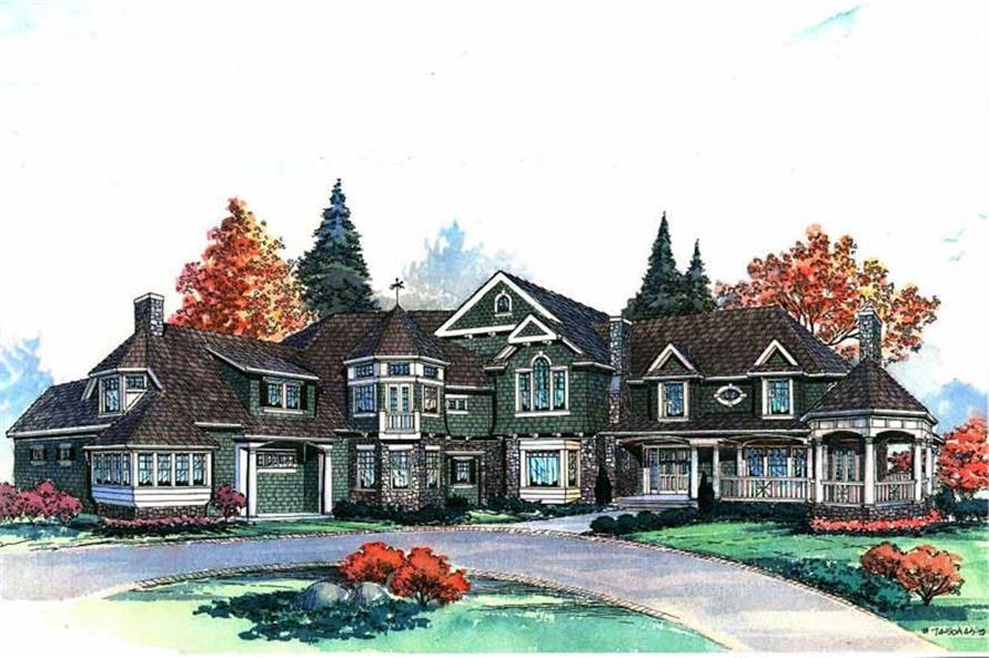 Craftsman Shingle Luxury House Plans Home Design CD 7400 9330