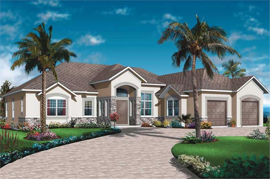 Mediterranean Bungalow House Plans Home Design Dd 3253