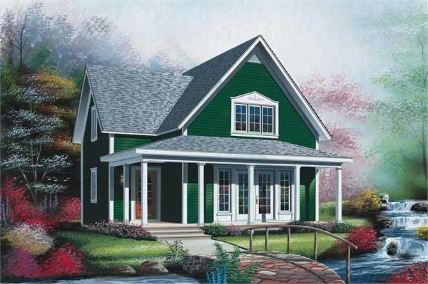 Small Vacation Homes Country Farmhouse House Plans