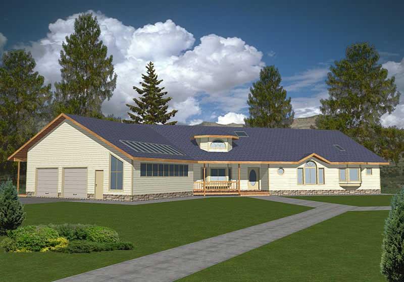 Ranch Concrete Block ICF Design House Plans Home Design GHD 2013 9396