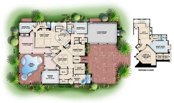Luxury House Plan 4 Bedrms 4 Baths 4405 Sq Ft 1331055