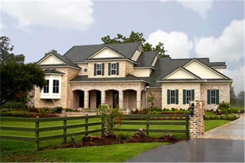 Farmhouse House Plan  134 1344  4 Bedrm  4323 Sq Ft Home      134 1344      4 Bedroom  4323 Sq Ft Farmhouse House Plan   134 1344   Front