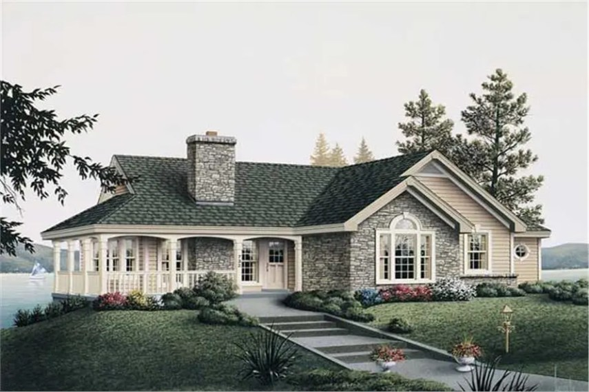 Great Country Cottage House plan by the Lake  House Plan  138 1003  138 1003      2 Bedroom  1922 Sq Ft Country Home Plan   138 1003   Main