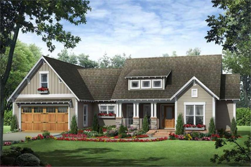 Country House Plans   Craftsman Home Plans   141 1077  141 1077      3 Bedroom  1800 Sq Ft Country House Plan   141 1077   Front