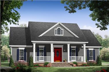 Small House Floor Plans and Designs   The Plan Collection House Plan    141 1243