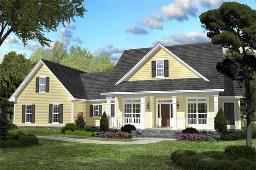 Country Southern Home with 3 Bdrm  2100 Sq Ft   House Plan  142 1042  142 1042      3 Bedroom  2100 Sq Ft Country Home Plan   142 1042   Main