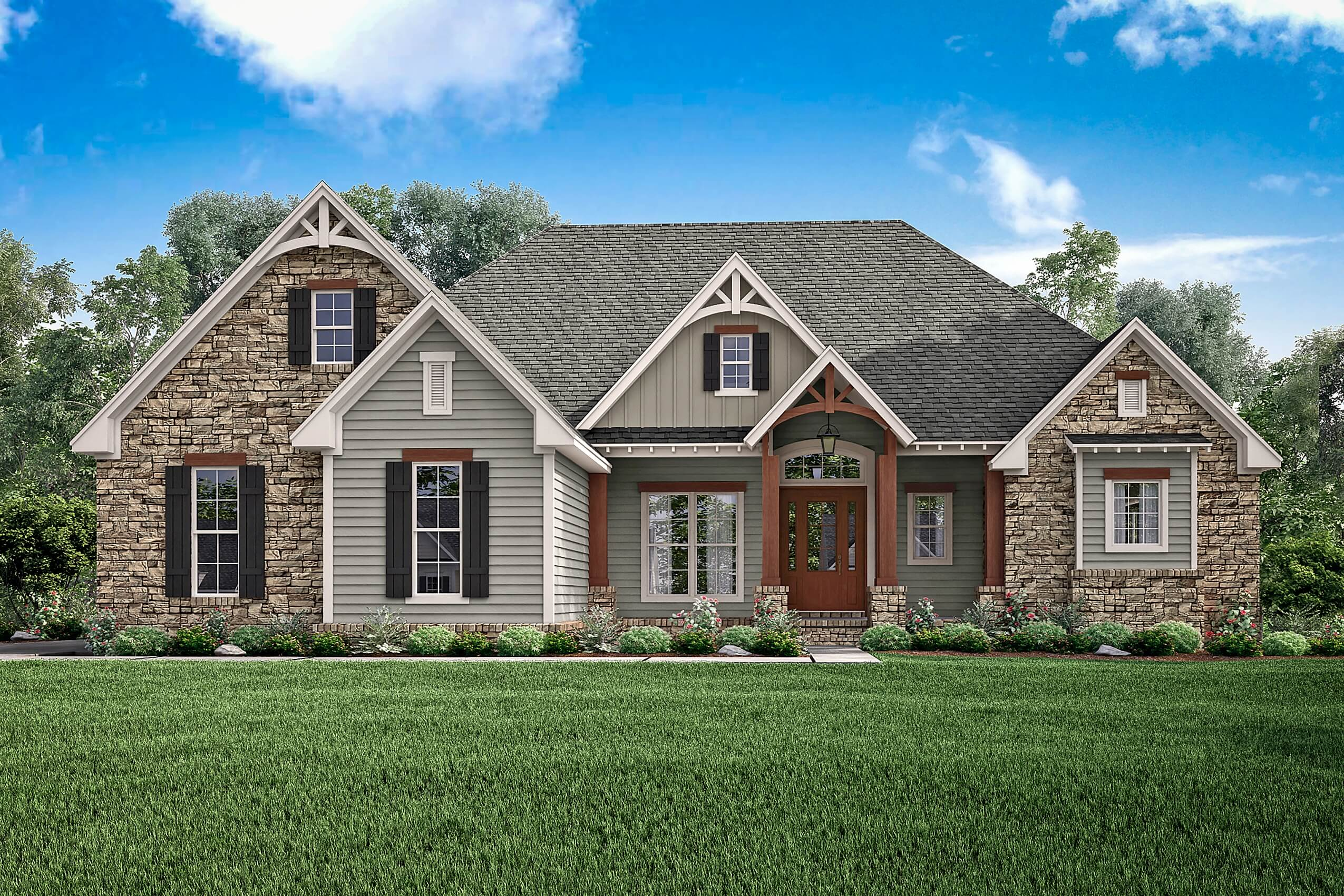 3 Bedrm 2597 Sq Ft Craftsman Plan With Photos 142 1168