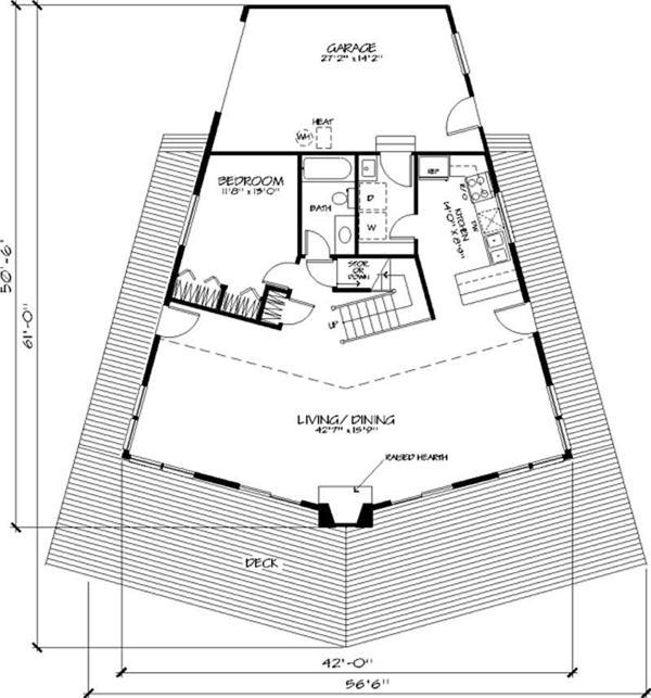 Pentagon Shaped House Plans | Amazing House Plans