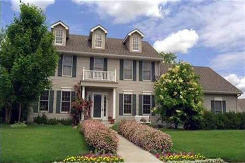 House Plan  146 1263  Colonial Home Plan with Georgian Influences  146 1263      Home Exterior Photograph of this 4 Bedroom 2508 Sq Ft Plan  146