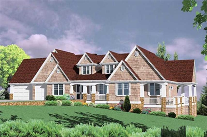 Country Home Plan   6 Bedrms  5 5 Baths   6950 Sq Ft    149 1592  149 1592      6 Bedroom  6950 Sq Ft Country Home Plan   149 1592   Main