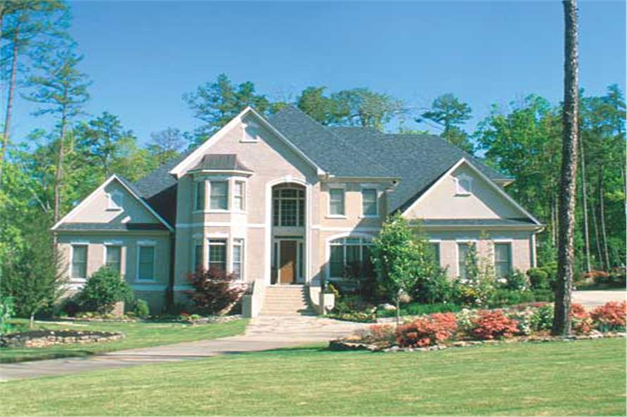 Traditional Houseplans   Home Design  153 1844   TPC  NDG 584   153 1488      5 Bedroom  4461 Sq Ft French Home Plan   153 1488   Main