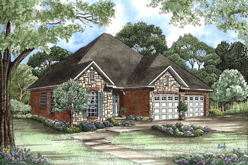 Small Country Home Plan 3 Bedrms 25 Baths 1379 Sq Ft 153 1500