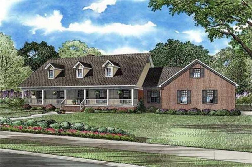 Cape Cod   Country Home with 5 Bedrooms  3496 Sq Ft   House Plan      153 1889      5 Bedroom  3496 Sq Ft Cape Cod House Plan   153 1889