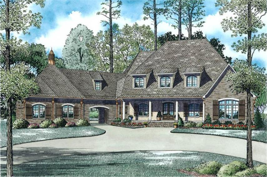 House Plan  153 1945  6 Bdrm  6 004 Sq Ft European Style Luxury Home      153 1945      6 Bedroom  6004 Sq Ft Luxury Home Plan   153 1945   Main