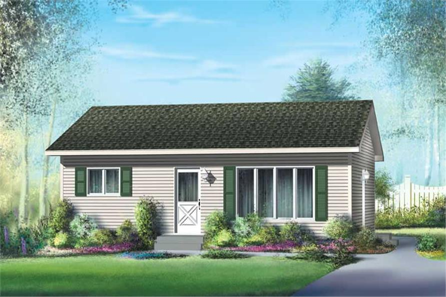Small Traditional Ranch House Plans Home Design PI 10033 12659