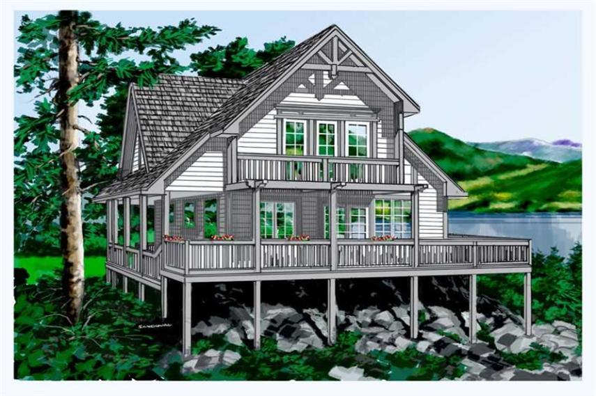 Cabins  Vacation Homes House Plans   Home Design Tiresias   17866  160 1011      2 Bedroom  1333 Sq Ft Log Cabin Home Plan   160 1011