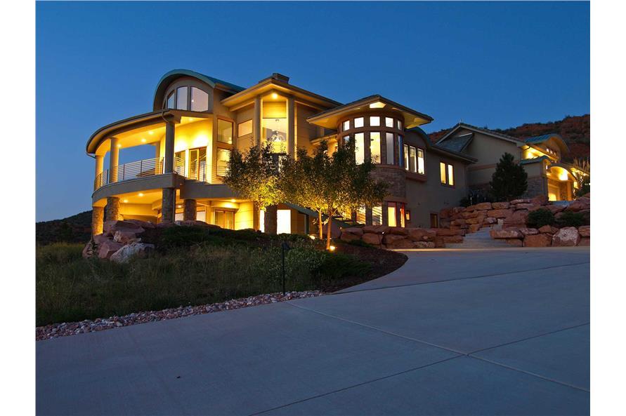 Contemporary Mountain Houseplans - Home Design #161-1000
