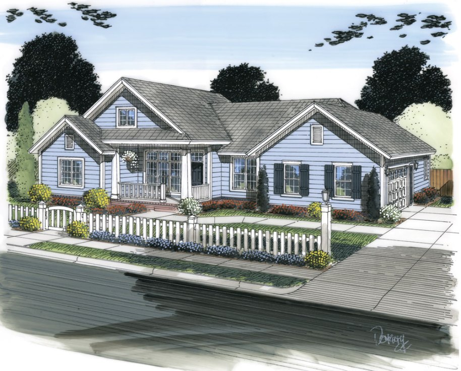 Ranch House Plan #178-1304: 4 Bedrm, 1966 Sq Ft Home Plan