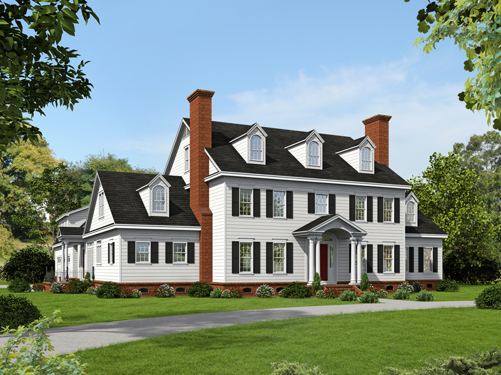 6 Bedrm 6858 Sq Ft Georgian House Plan 196 1023