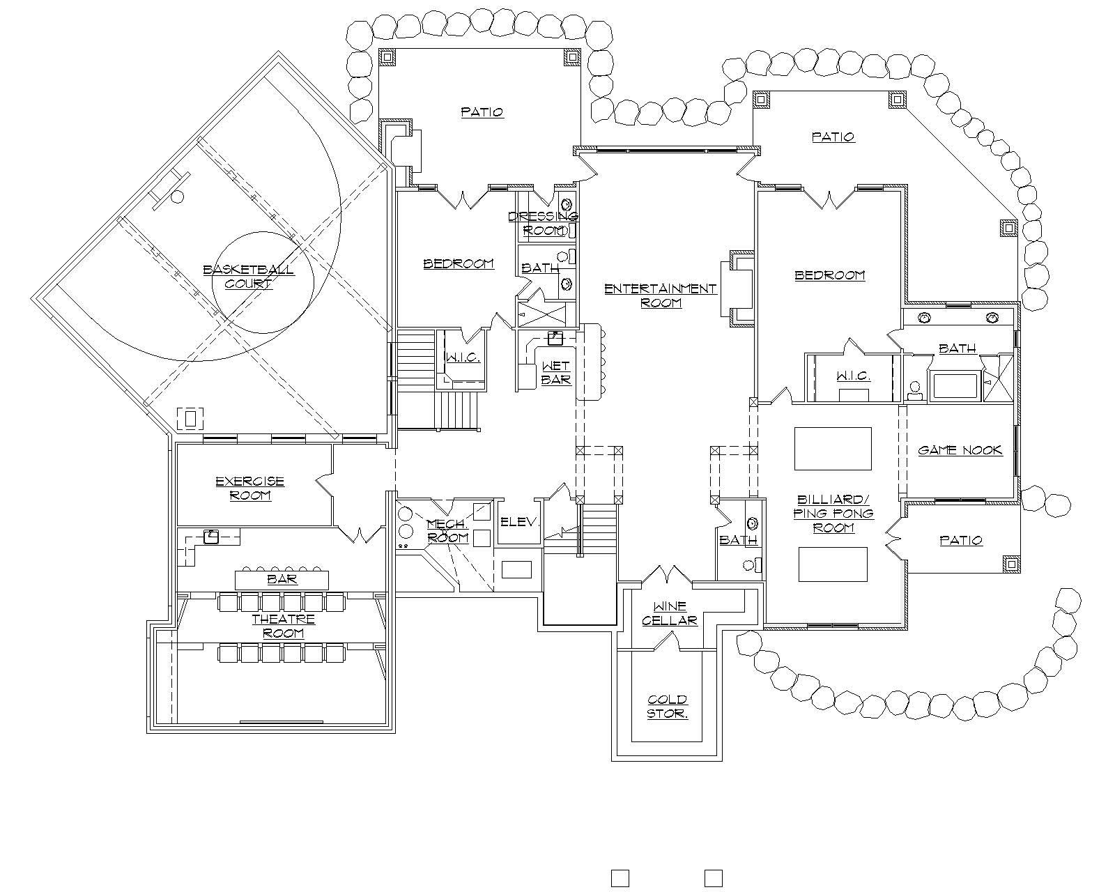 House Plans With Indoor Basketball Court