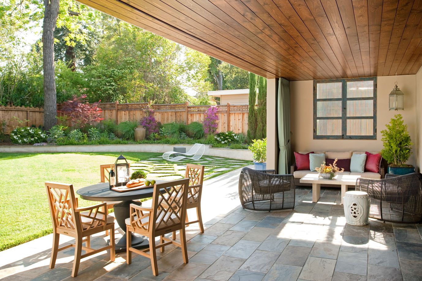 6 Design Ideas to Perk Up Your Outdoor Living Space with Color on Covered Outdoor Living Area id=65935