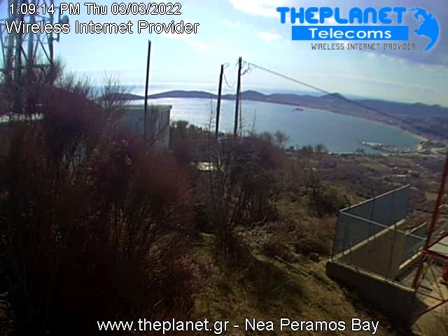 Nea Peramos Bucht webcam Live