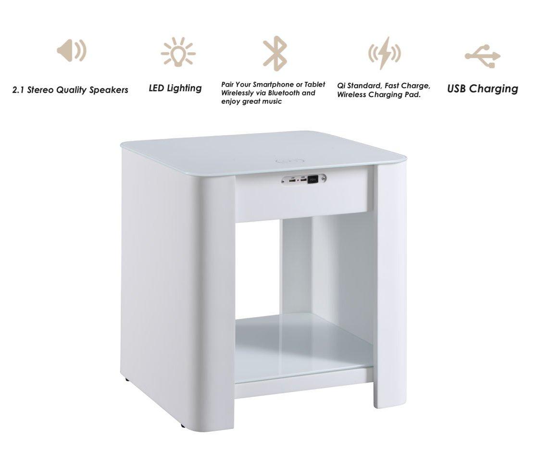 jual jf406 san francisco smart speaker charging bedside lamp table white