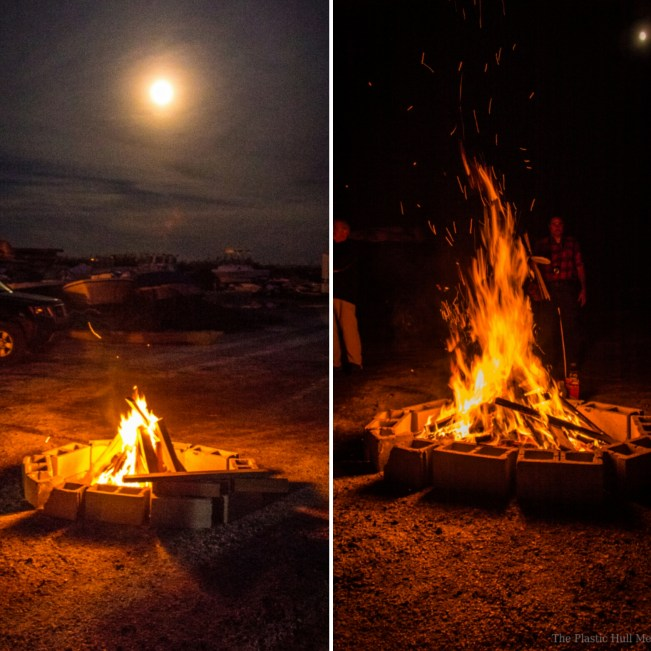 Bonfire under the full supermoon.
