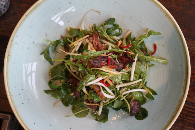 Asian duck salad The Dock Mermaid Quay