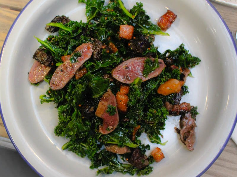 pigeon kale salad Dark Dusty Knuckle