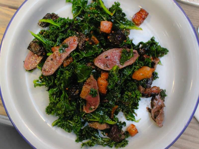 pigeon kale salad Dark Dusty Knuckle