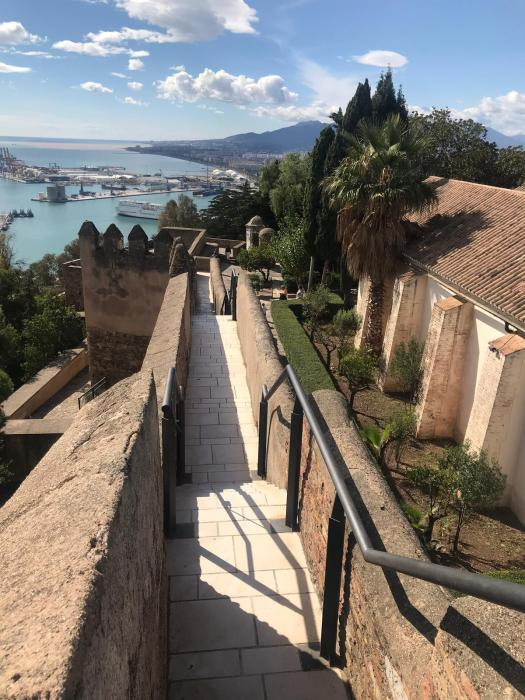 The path up the hill in Malaga