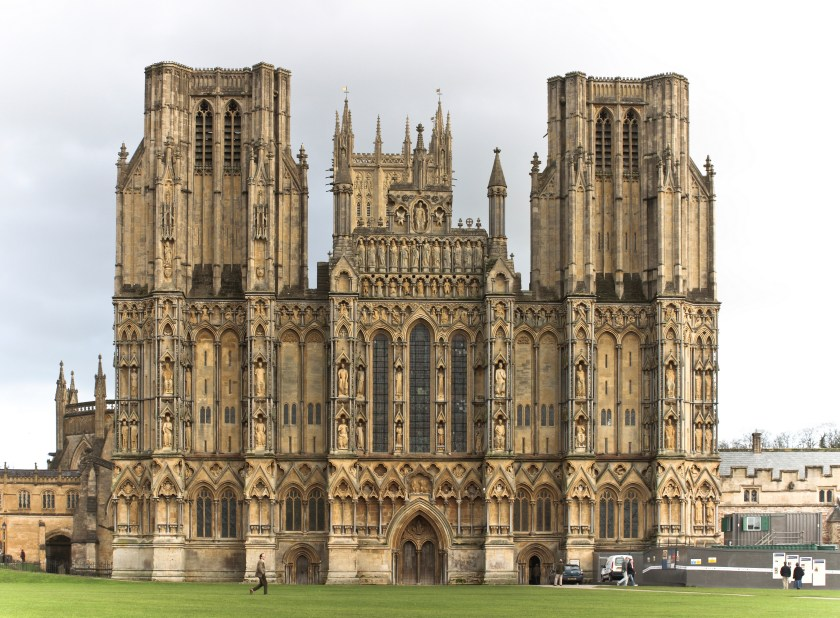 The front of Wells Cathedral #Wells