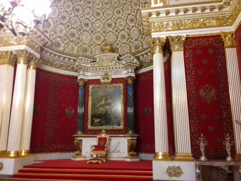 The red throne room of the Hermitage #St. Petersburg