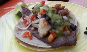 Tacos de cecina from el Buen Taco on Constituyentes -delicious!