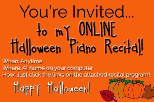 online-halloween-recital-invitation