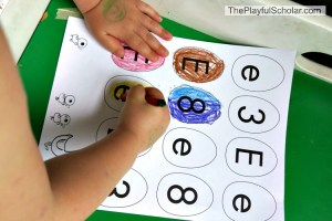 E is for Egg (Letter & Number Recognition) Game