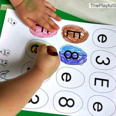 E is for Egg (Letter & Number Recognition) Game