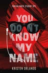 YA Book Review: You Don't Know My Name (The Black Angel Chronicles #1) by Kristen Orlando