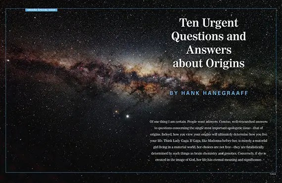 Ten Urgent Questions and Answers about Origins