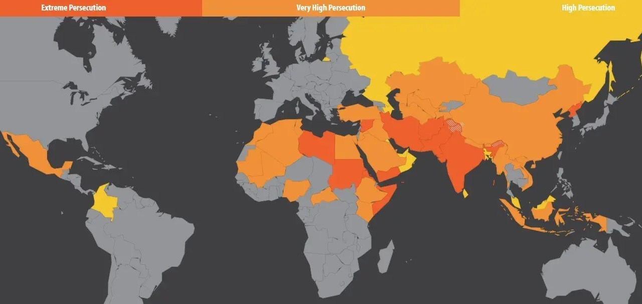 Persecution of Christians is Increasing Worldwide
