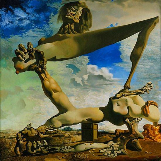 Salvador Dali - Construcţie moale cu fasole fiartă (Premoniţie a Războiului Civil ), 1936