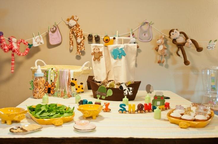 Idei originale pentru decorarea dusului de bebelus cu animale